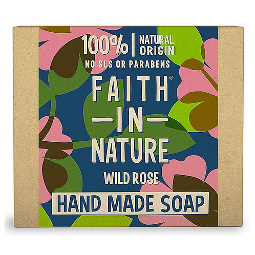 Faith in Nature Wild Rose Soap Bar - 100g