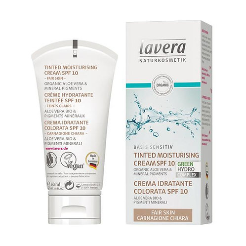 Lavera Basis Sensitive Tinted Moisturising Cream SPF10 - Fair Skin