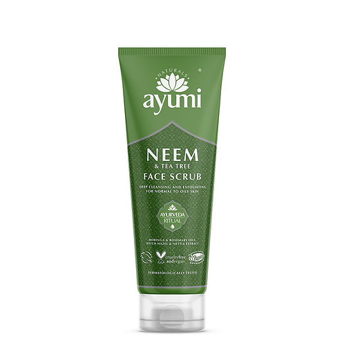 Ayumi Neem & Tea Tree Face Scrub - 125ml