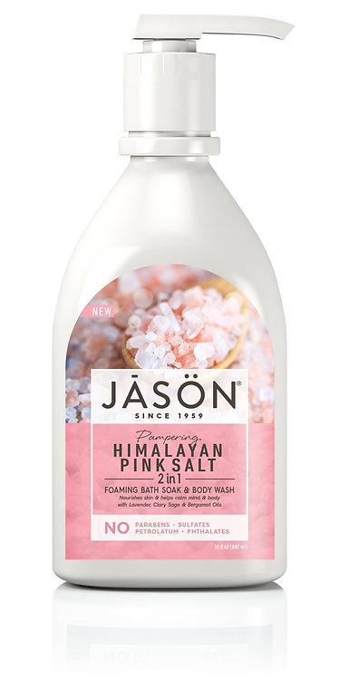 Jason Pampering Himalayan Pink Salt 2-in-1 Foaming Bath Soak & Body Wash - 887ml