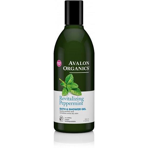 Avalon Organics Revitalising Peppermint Bath & Shower Gel - 355ml