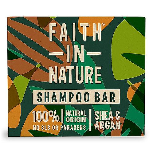 Faith in Nature Shea & Argan Shampoo Bar - 85g