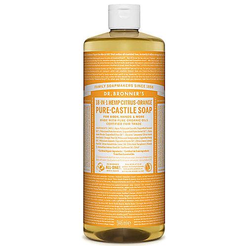 Dr Bronner's Citrus Pure Castile Liquid Soap - 946ml