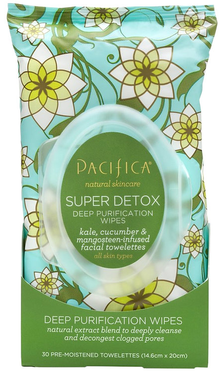 Pacifica Super Detox Deep Purification Wipes