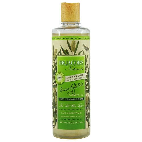Dr Jacobs Naturals Castile Liquid Soap Eucalyptus - 473ml