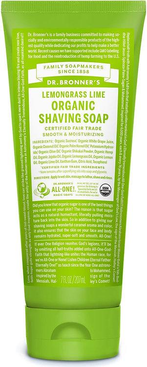 Dr Bronners Lemongrass Lime Organic Shaving Soap
