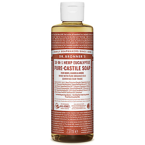 Dr Bronner's Pure Castile Liquid Soap - Eucalyptus - 237ml