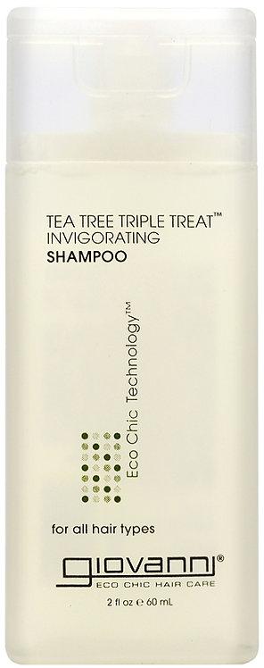 Giovanni Tea Tree Triple Treat Invigorating Shampoo - 60ml