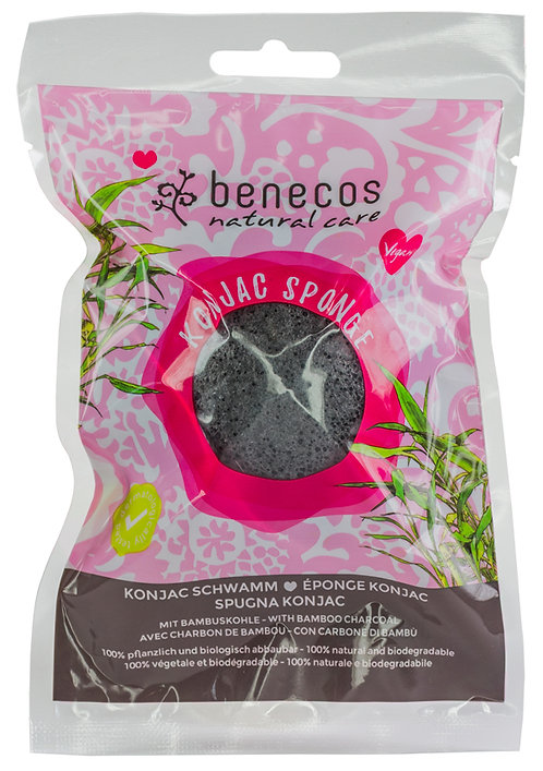 Benecos Konjac Sponge with Black Bamboo