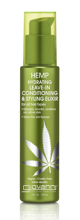 Giovanni Hemp Hydrating Leave In Conditioning Styling Elixir