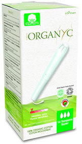 Organyc Organic Cotton Tampons with Applicator - Super - 14