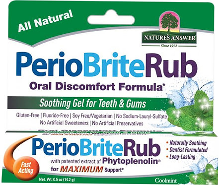 Nature's Answer PerioBrite Rub Soothing Gel for Teeth & Gums