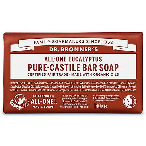 Dr Bronner's Pure Castile Bar Soap - Eucalyptus