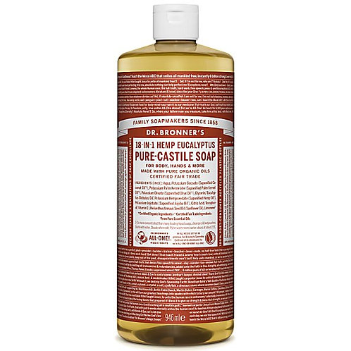Dr Bronner's Pure Castile Liquid Soap - Eucalyptus - 946ml
