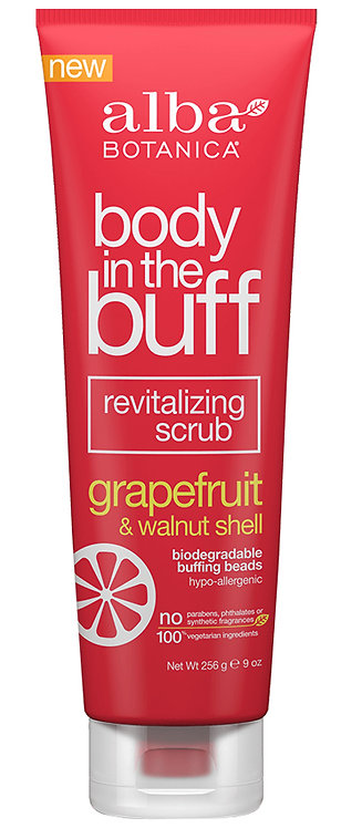 Alba Botanica Body in the Buff Revitalising Scrub Grapefruit & Walnut Shell
