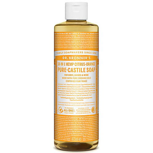 Dr Bronner's Citrus Pure Castile Liquid Soap - 473ml