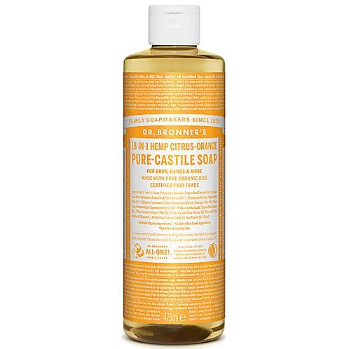 Dr Bronner's Citrus Pure Castile Liquid Soap - 473ml