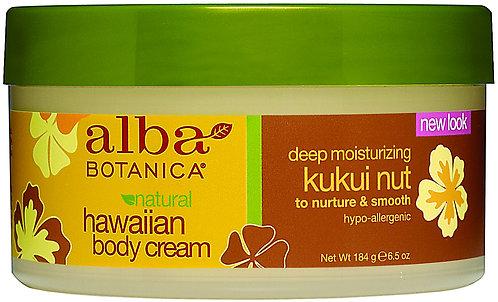 Alba Botanica Hawaiian Body Cream Deep Moisturising Kukui Nut