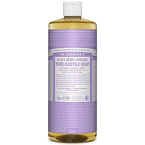 Dr Bronner's Pure Castile Liquid Soap - Lavender - 946ml