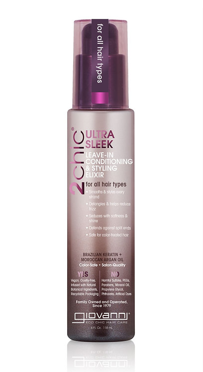 Giovanni Ultra Sleek Leave In Conditioning & Styling Elixir