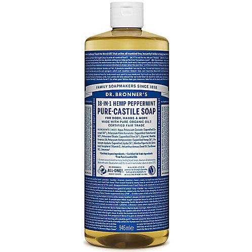 Dr Bronner's Peppermint Pure Castile Liquid Soap - 946ml