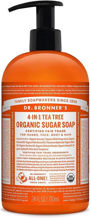 Dr Bronner's Organic Pump Soap - Tea Tree - 710ml