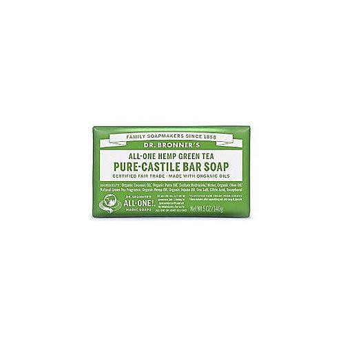 Dr Bronner's Green Tea Castile Bar Soap