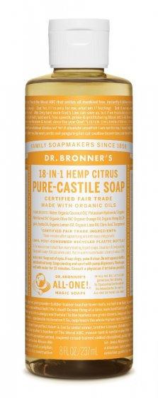 Dr Bronner's Pure Castile Liquid Soap - Citrus - 237ml