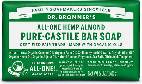 Dr Bronner's Almond Pure Castile Bar Soap