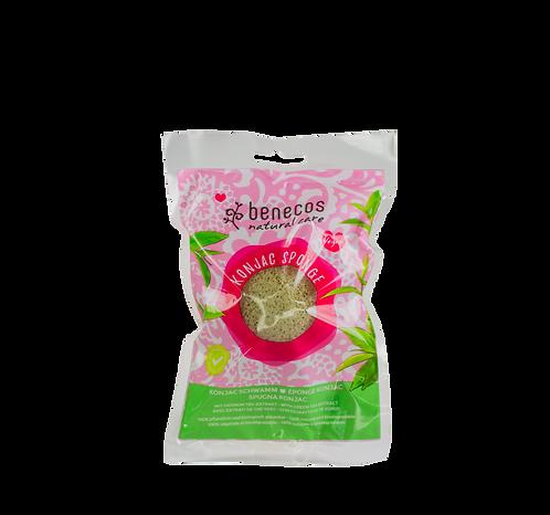 Benecos Konjac Sponge with Green Tea