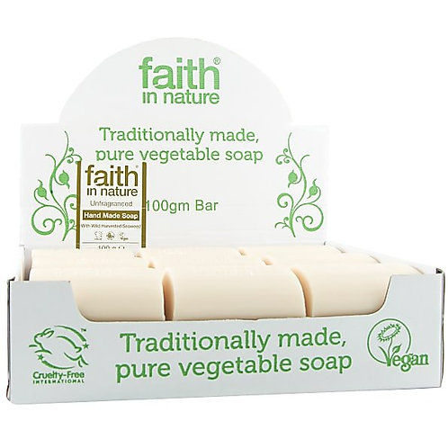 Faith in Nature Unwrapped Soap Bars - Fragrance Free - 18