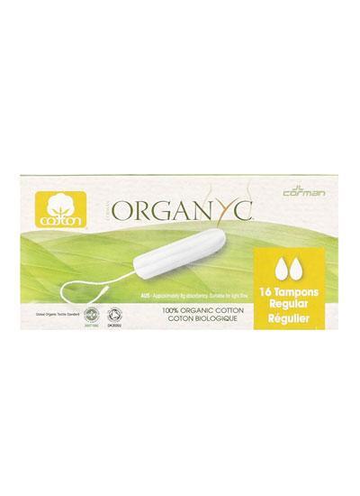Organyc Organic Cotton Tampons - Regular - 16
