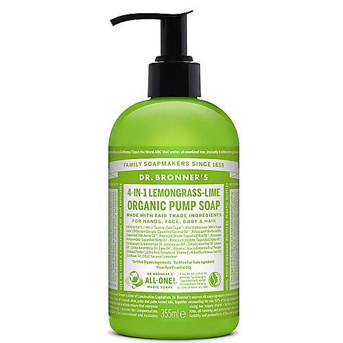 Dr Bronners Organic Sugar Soap Lemongrass - 355ml