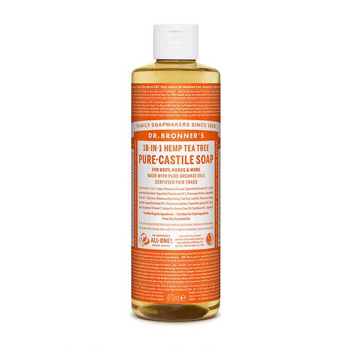 Dr Bronner's Pure Castile Liquid Soap - Tea Tree - 473ml