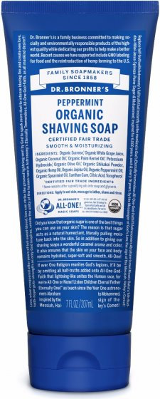 Dr Bronners Peppermint Organic Shaving Soap