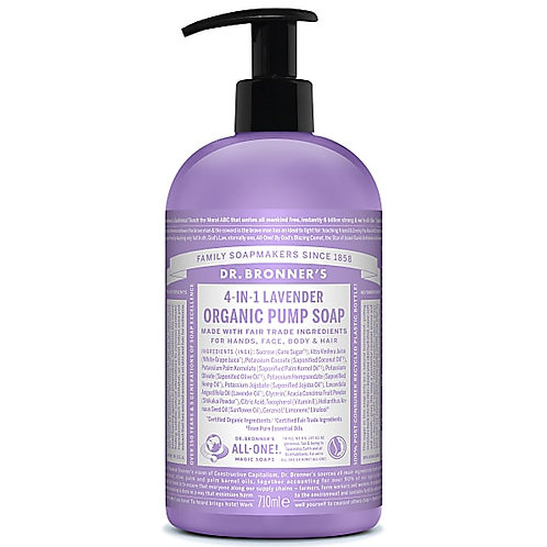 Dr Bronner's Organic Sugar Pump Soap - Lavender - 710ml