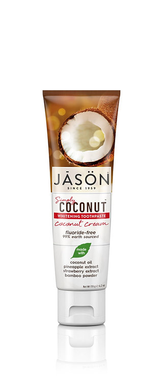 Jason Simply Coconut Whitening Toothpaste Coconut Cream