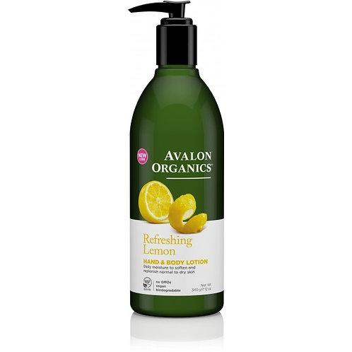 Avalon Organics Refreshing Lemon Hand & Body Lotion - 340g