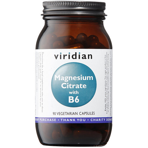 ViridianMagnesium Citrate with Vitamin B6 90 Veg Caps