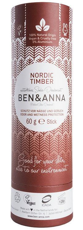 Ben & Anna Natural Soda Deodorant Nordic Timber