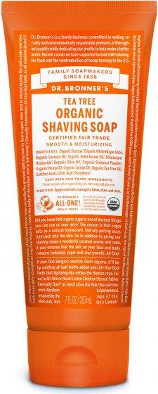 Dr Bronners Tea Tree Organic Shaving Soap