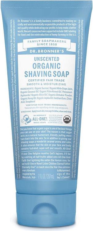 Dr Bronner's Organic Shaving Soap - Unscented