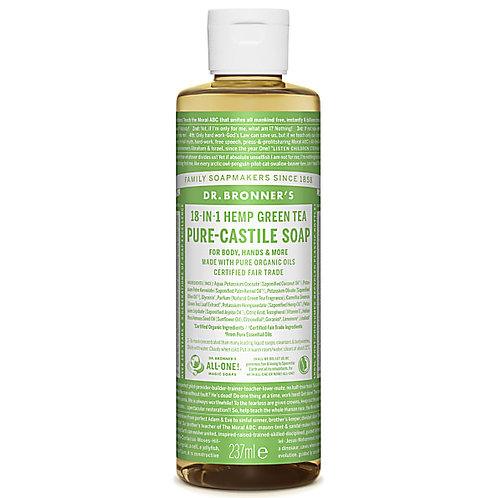 Dr Bronners Green Tea Pure Castile Liquid Soap - 237ml