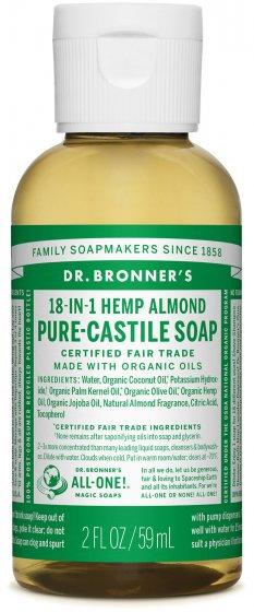 Dr Bronner's Almond Pure Castile Liquid Soap - 59ml