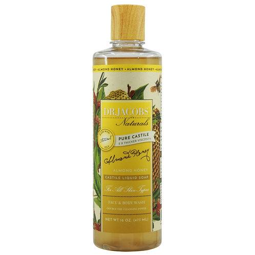 Dr Jacobs Naturals Castile Liquid Soap Almond Honey - 473ml