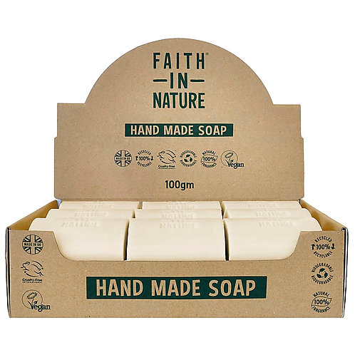 Faith in Nature Coconut Unwrapped Soap Bars - 18 Bar Soaps