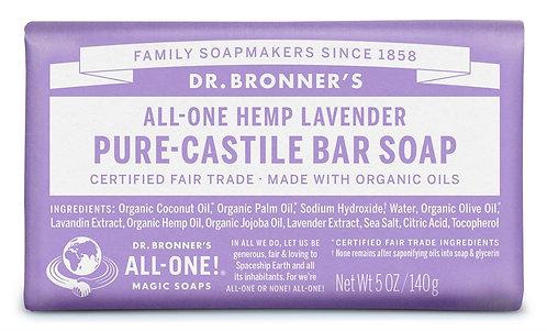 Dr Bronner's Pure Castile Bar Soap Lavender