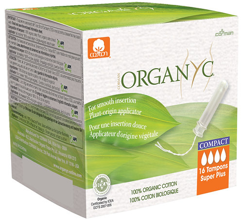 Organyc Compact Applicator Tampons - Super Plus - 16