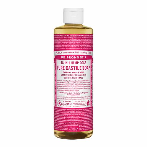 Dr Bronner's Pure Castile Liquid Soap Rose 473ml