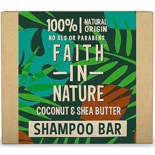 Faith in Nature Coconut & Shea Butter Shampoo Bar - 85g